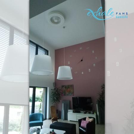 Témoignage Exhale ventilateur de plafond haut