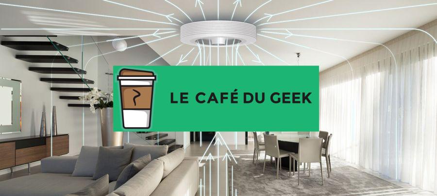 Exhale fans dans le café du geek