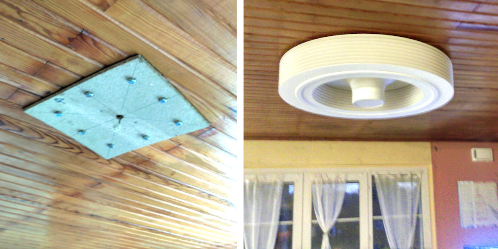 Fitting of an Exhale fan on false ceilings and uneven surfaces