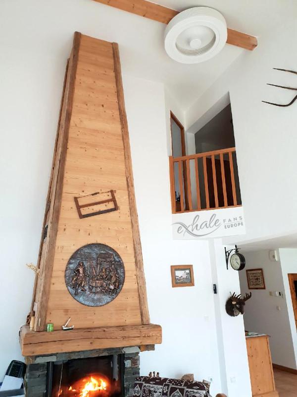Open haard - hoog plafond - plafondventilator