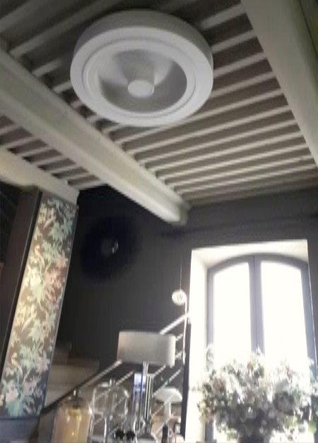 Ventilateur de plafond dans la cuisine