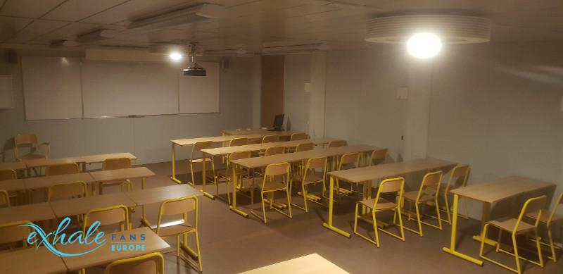 ventilateur de plafond Exhale école Mayotte Kahani